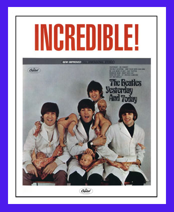 Beatles Album Covers Beatles For Sale. Beatles Butcher cover poster,