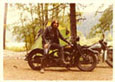 Jeff with bikes 1978