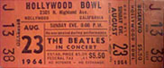 Hollywood Bowl Ticket 1964