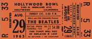 Hollywood Bowl Ticket 1965