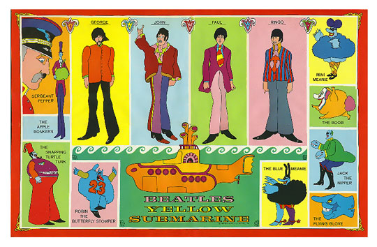 beatles comic books yellow submarine. Black Bedroom Furniture Sets. Home Design Ideas
