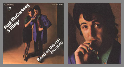 Band On The Run Zoo Gang Apple J 006 05683 This Single Was Released In Spain 1974 With A Rare Sleeve That Pictured Paul Smoking Cigarette